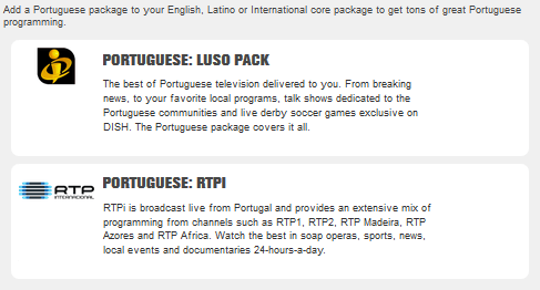 Portuguese Programming – Perfect Satellite TV
